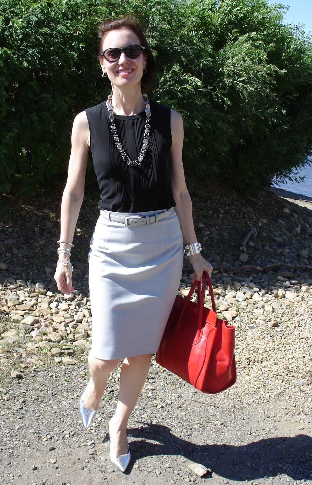fashion over 40 summer work outfit