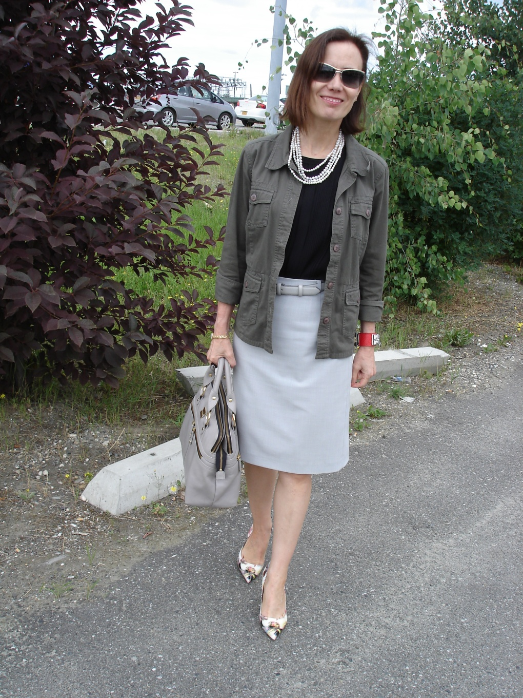 fashion over 50 woman in Casual Friday outfit