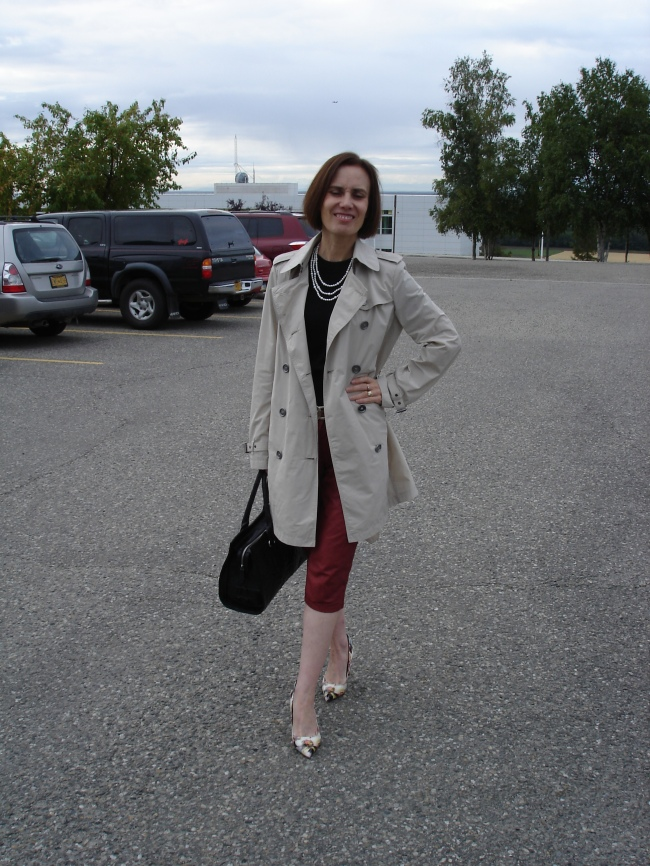 #over40 Leather capri for the office | High Latitude Style | http://www.highlatitudestyle.com