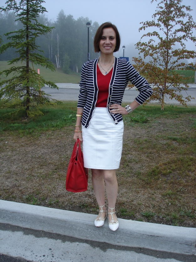 #styleover40 patriotic look inspiration for mature women @ http://www.highlatitudestyle.com