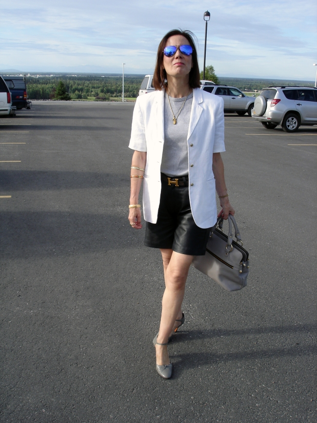 #over40 short sleeve blazer | High Latitude Style | http://www.highlatitudestyle.com