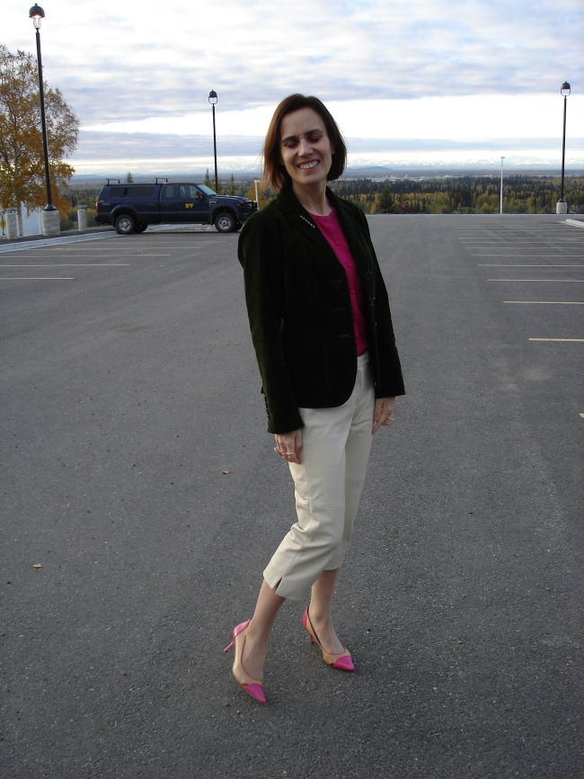 #styleover40 mature casual work look