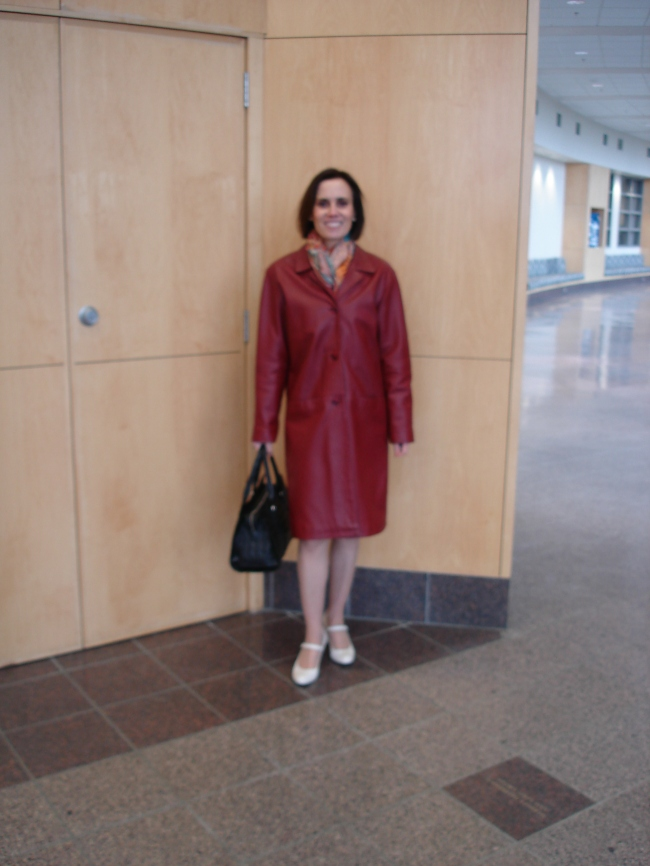 #over40 Leather coat | High Latitude Style | http://www.highlatitudestyle.com