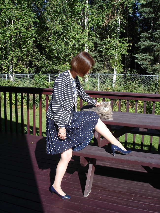 #over40 Blue and white Provence inspired work look | High Latitude Style | http://www.highlatitudestyle.com