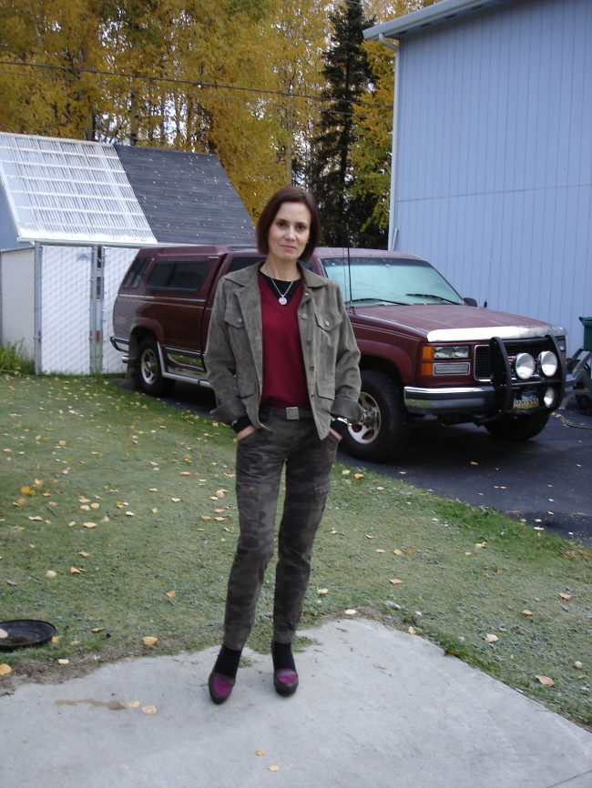 #over40 Casual look with camouflage cargo pants over 40 | High Latitude Style | http://www.highlatitudestyle.com