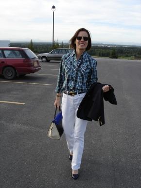 #fashionover40 #over50fashion #menswearover40 boyfriend jeans | High Latitude Style | http://www.highlatitudestyle.com