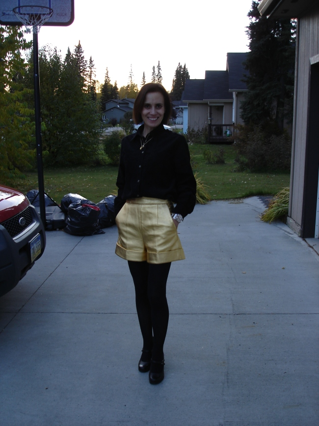 #over40 Gold shorts over 40 | High Latitude Style | http://www.high latitudestyle.com