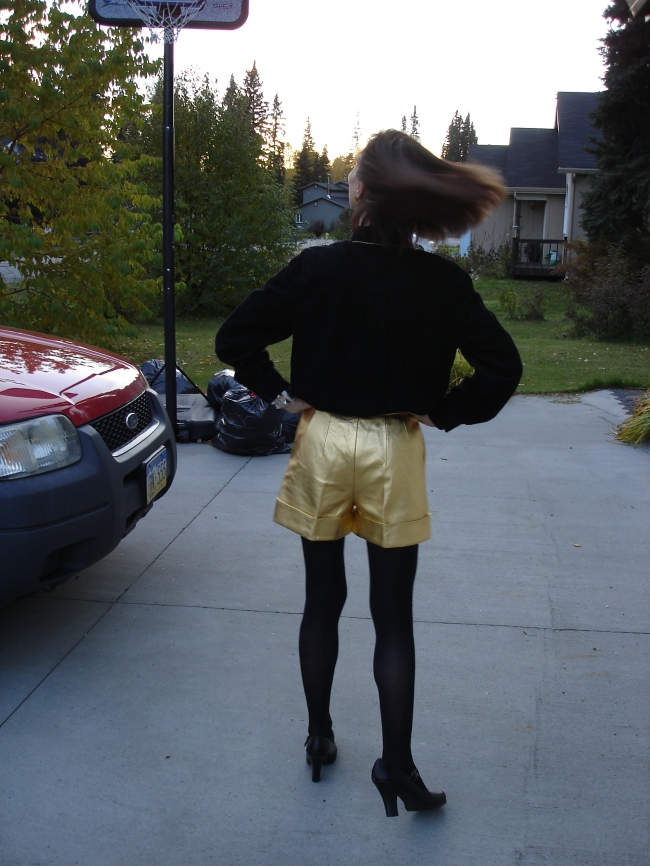 #over40 Gold shorts | High Latitude Style | http://www.high latitudestyle.com