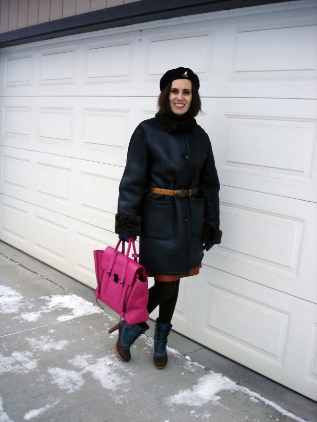 #over40fashion styled winter outerwear