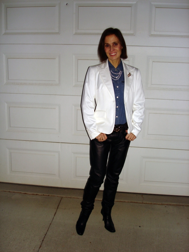 styleover40 Winter look with leather pants