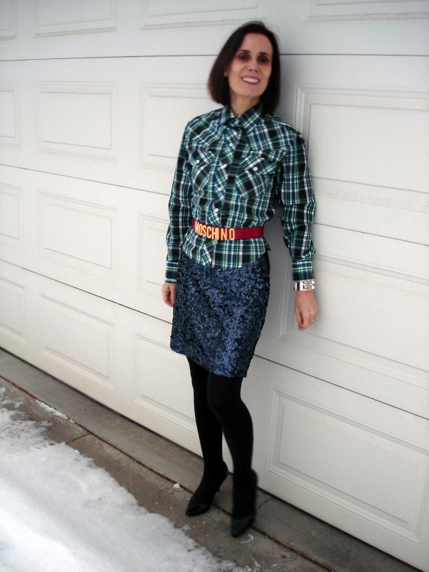#fashionover40 mature woman in edgy festive look | High Latitude Style | http://www.highlatitudestyle.com
