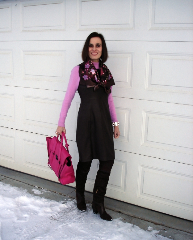 #fashionover40 Over-the-knee boots for mature women