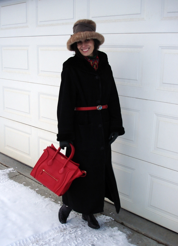 styleover40 woman wearing a classic winter outfit