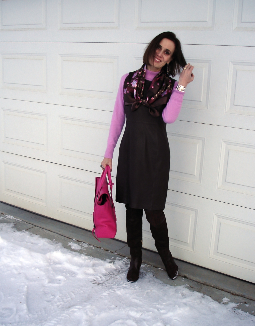 #fashionover40 leather work outfit | High Latitude Style | http://www.highlatitudestyle.com