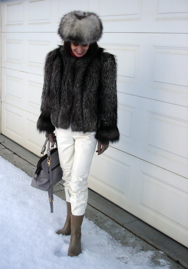 #fashionover50 mature woman in styled outerwear