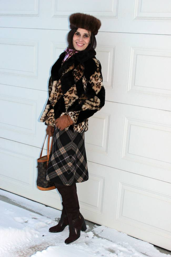 #over40 Streetstyle with mixed pattern | High Latitude Style | http://www.highlatitudestyle.com