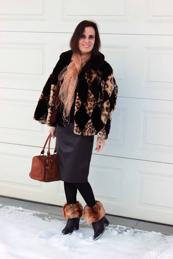 Winter look with boot toppers