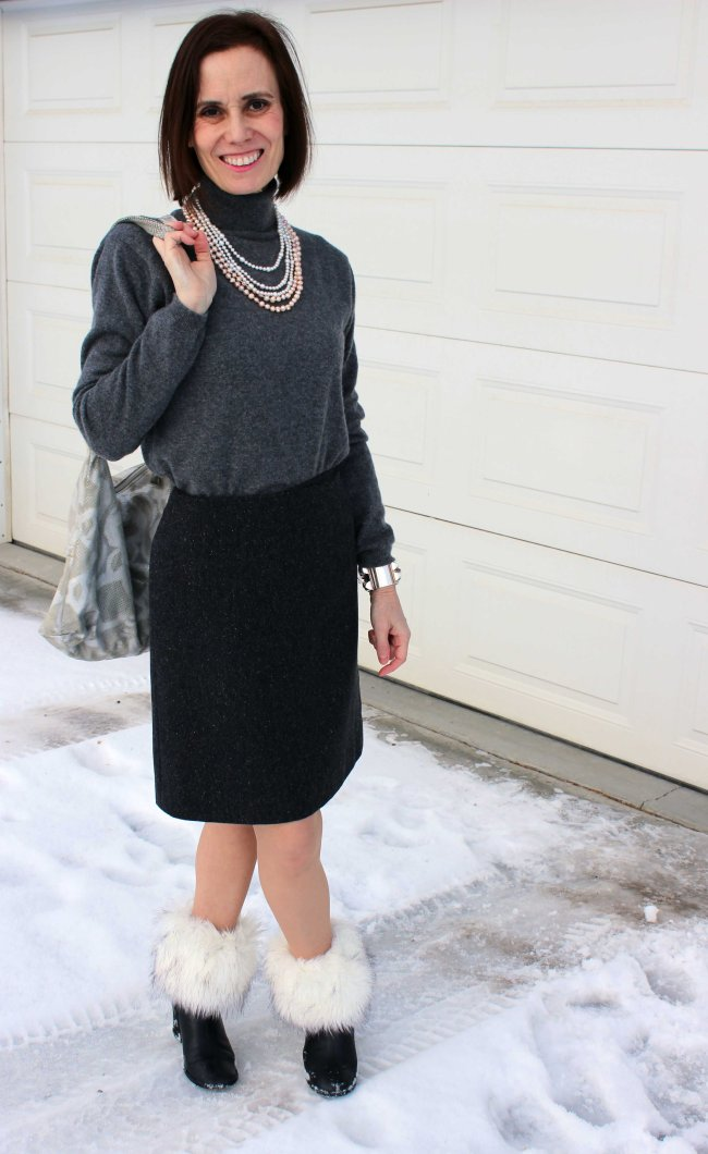 #over-40-fashion http://www.highlatitudestyle.com Modern office look for mature women in winter