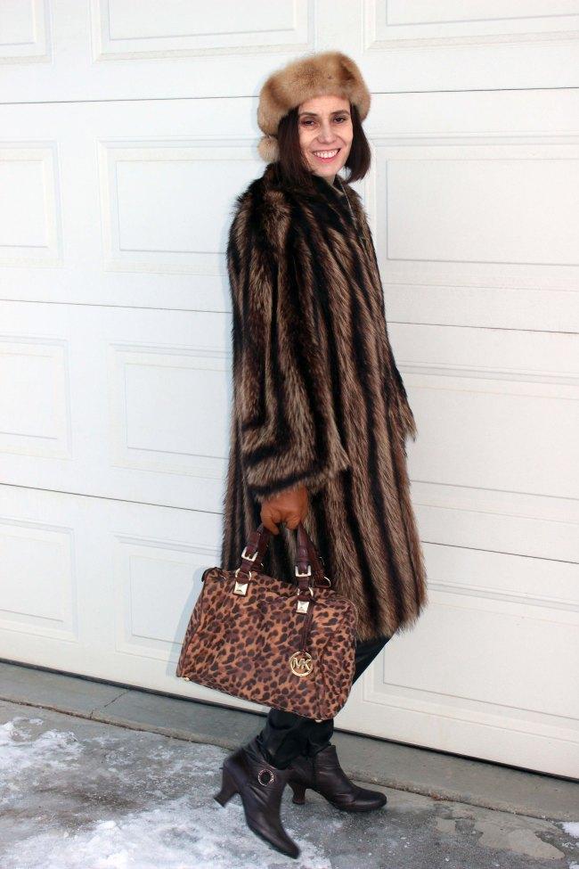 #maturefashion woman in stylish winter outerwear