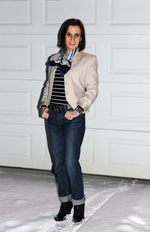 #over40fashion Mature women in casual Friday outfit | High Latitude Style | http://www.highlatitudestyle.com
