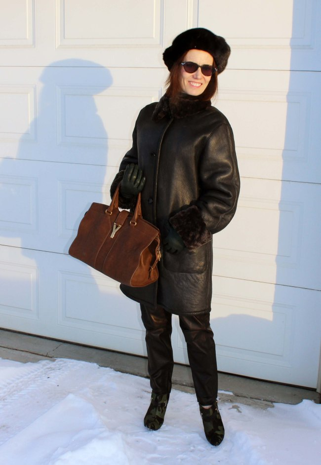 #styleover40 woman in winter outerwear