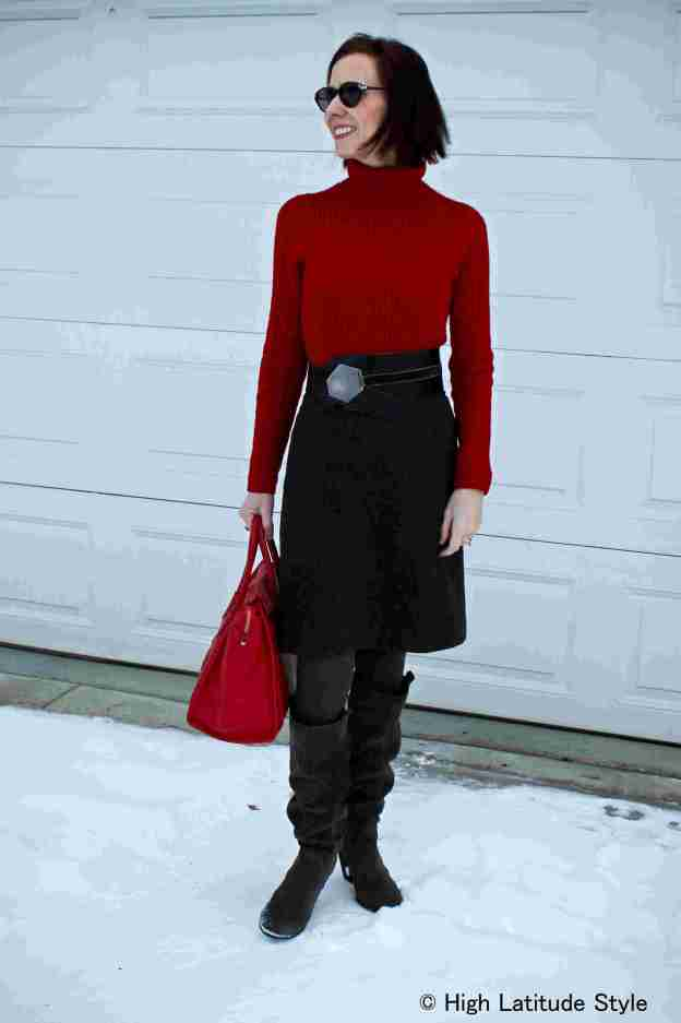 #fashionover40  Winter office outfit for mature women