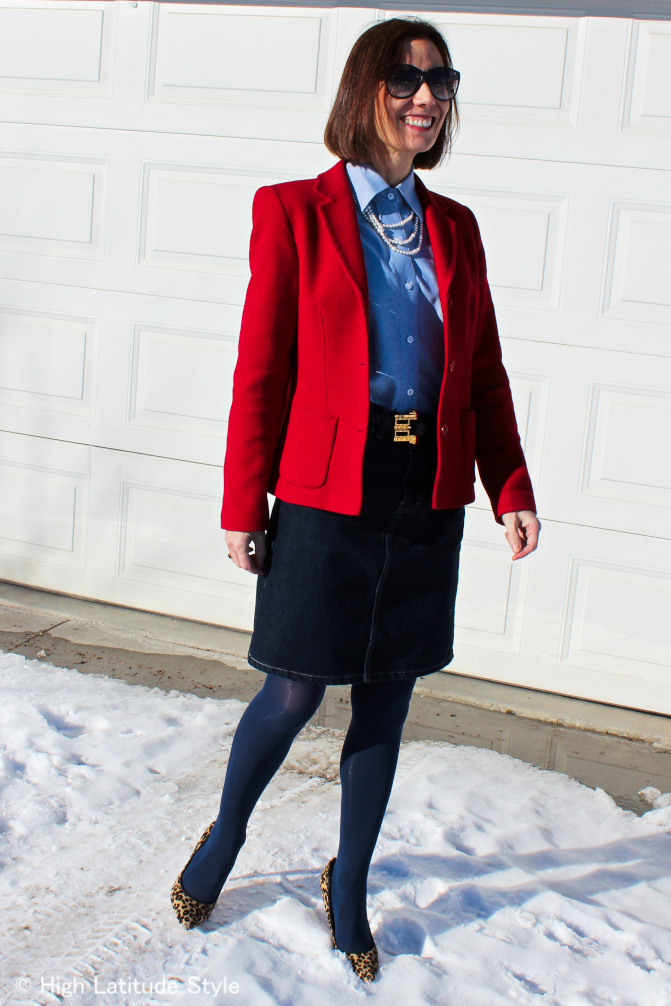 #over40 Mature womain in classic office outfit | High Latitude Style | http://www.highlatitudestyle.com