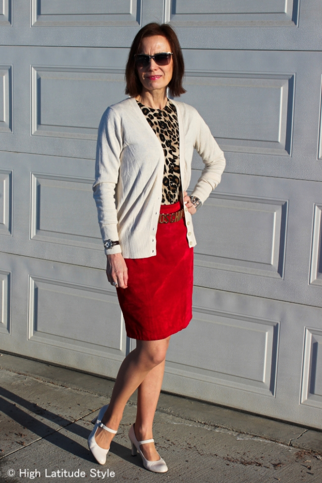 #fashionover40 Office look with leopard print top