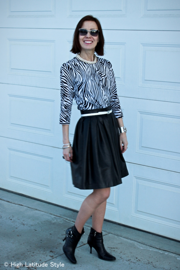 #over-40 Black and white outfit  | High Latitude Style | http://www.highlatitudestyle.com