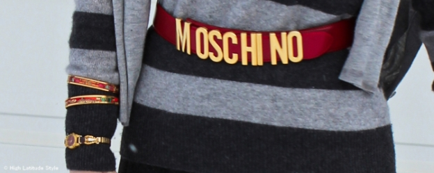 Moschino belt  | High Latitude Style | http://www.highlatitudestyle.com
