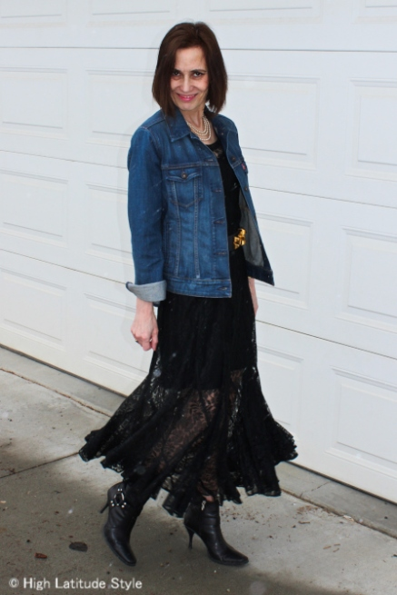 midlife woman in lace trend
