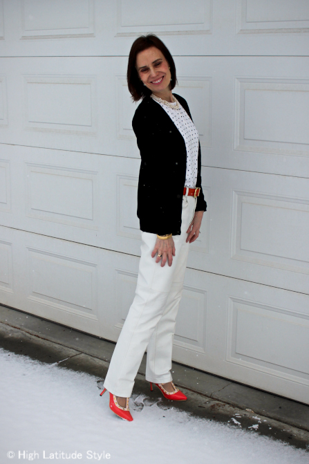 #over-40-fashion How to wear studs over 40  | High Latitude Style | http://www.highlatitudestyle.com