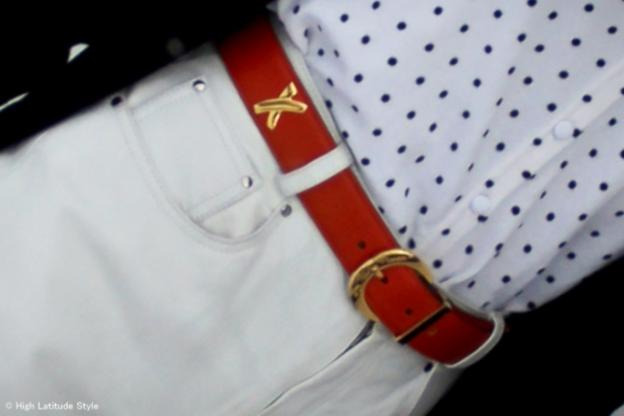 Paloma Picasso belt  | High Latitude Style | http://www.highlatitudestyle.com