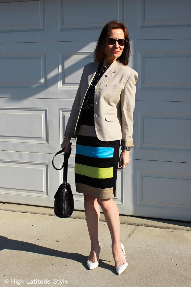 #turningFashionIntoStyleOver40 eShakti custom made skirt | High Latitude Style http://wp.me/p3FTnC-22nm