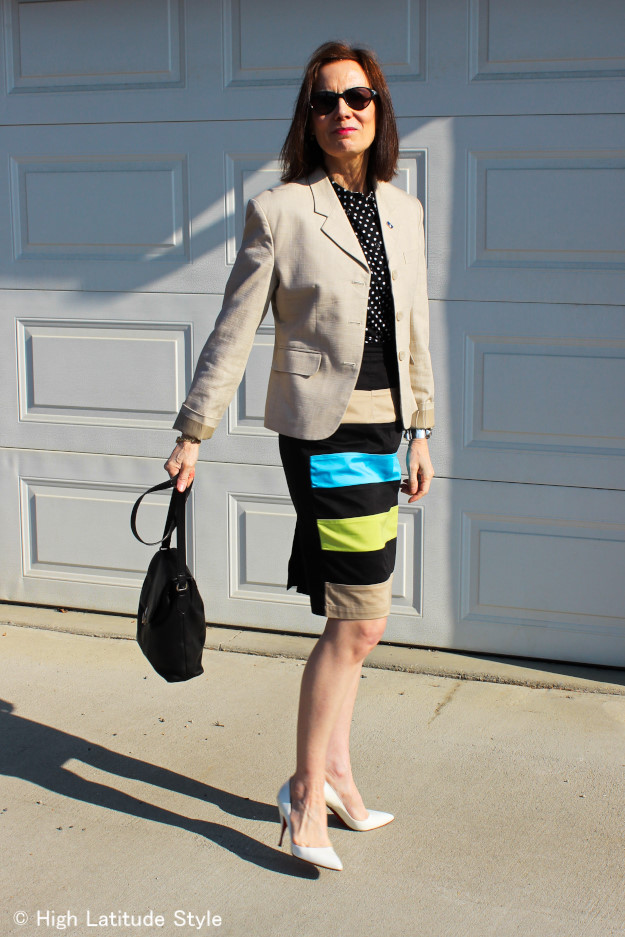 #over40 eShakti custom made skirt | High Latitude Style http://wp.me/p3FTnC-22n