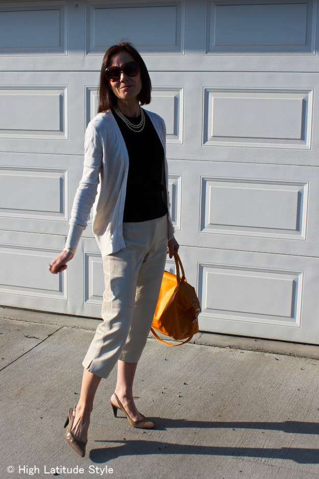 #styleover40 Classic American look for work