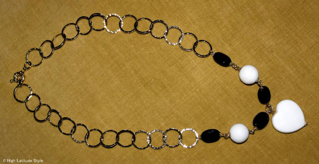 Almo Jewllery jade and onyx gold plated necklace