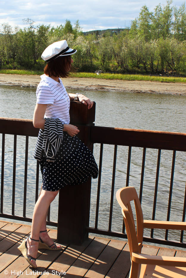 styleover50 mature picnic outfit with skirt