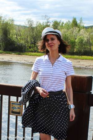 #over40and50fashion spring trend blue and white | High Latitude Style | http://www.highlatitudestyle.com