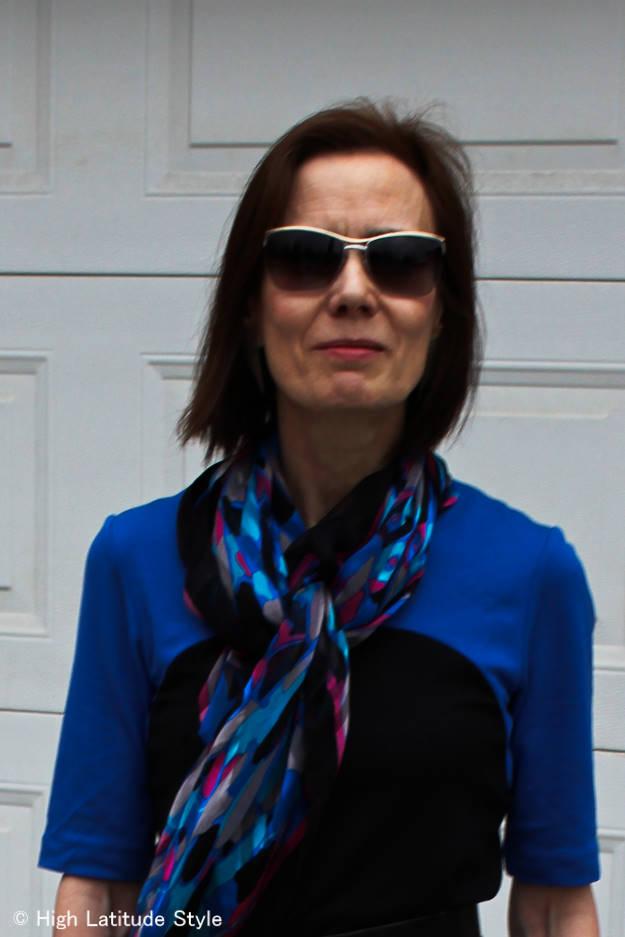 #RonenChen #D&GMsunglasses Mature women wearing a dress c/o Ronen Chen http://www.highlatitudestyle.com