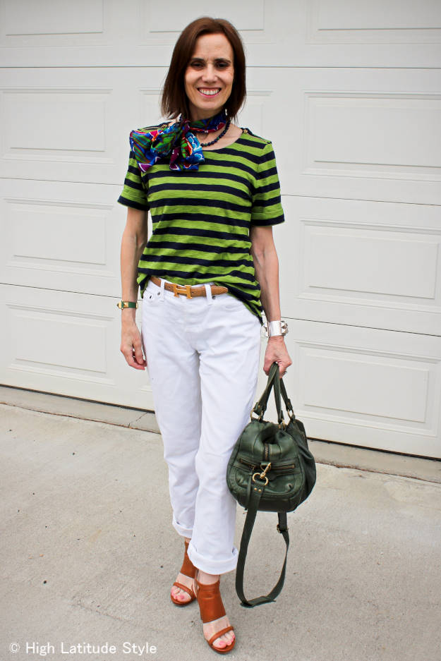 #Fashionover40 mature casual weekend look @ High Latitude Style