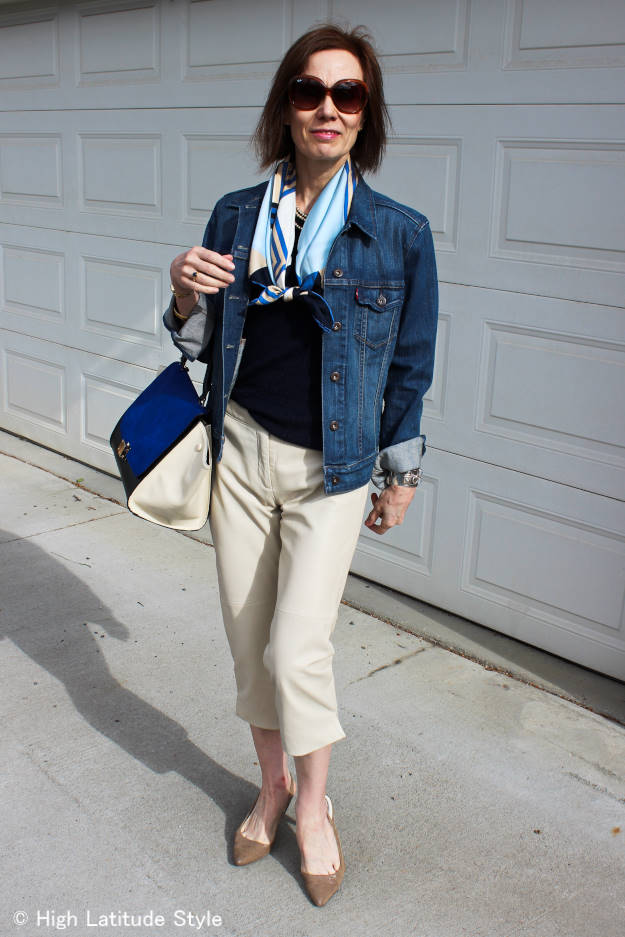 #fashionover50 mature woman casual summer look @ High Latitude Style