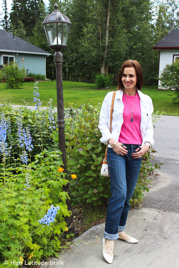 #fashionover40 mature patriotic inspired look @ High Latitude Style