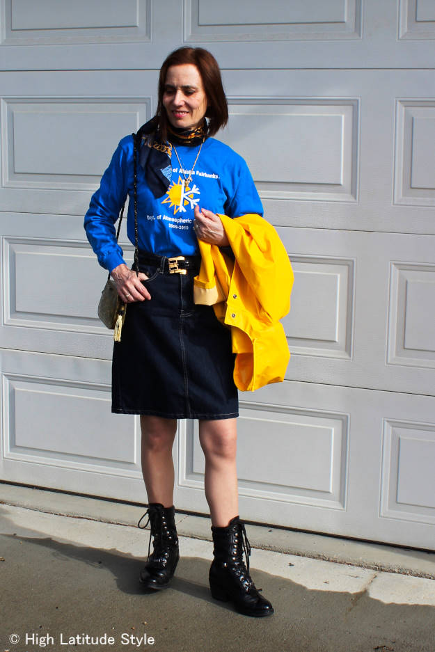 #over40style What to wear on a rainy day @ High Latitude Style