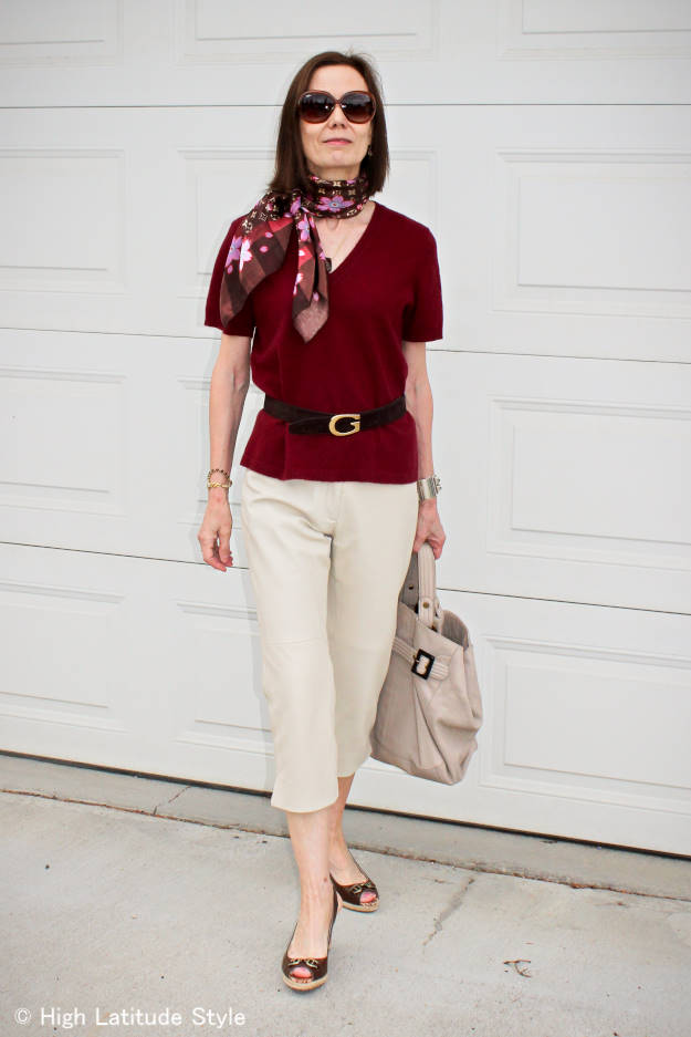 Fashion over 40  summer outfit with capri High Latitude Style http://www.highlatitudestyle.com