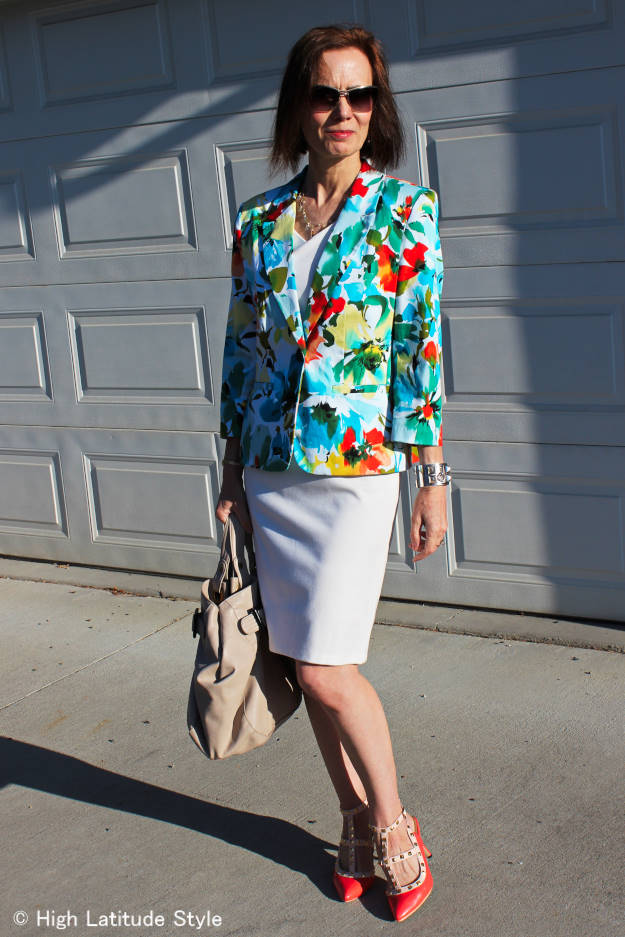 #fashionover40 mature woman in a summer dress styled for spring @ http://wp.me/p3FTnC-4io