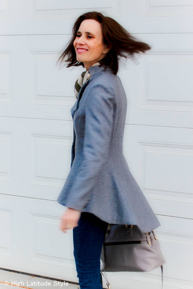 #LookbookStore #fashionover50 mature woman in Fit-And-Flare-Blazer http://wp.me/p3FTnC-2tQ