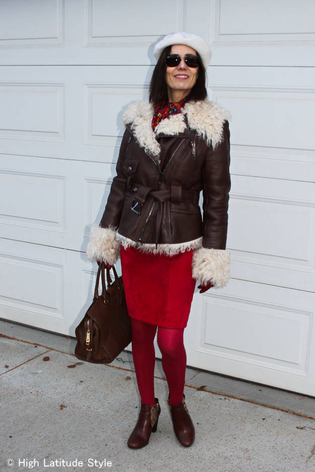 fashion over 40 woman in winter outfit