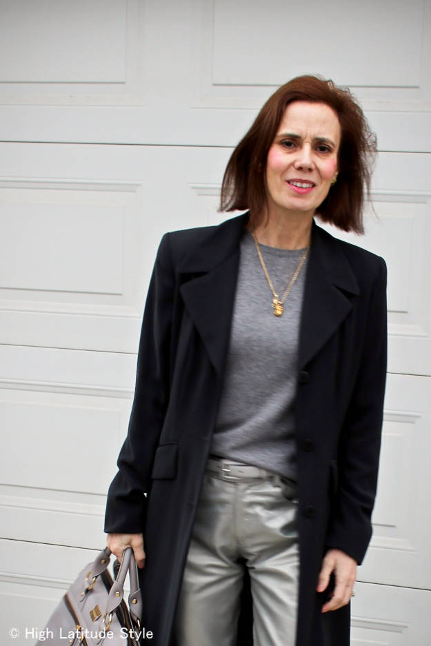 #HighLatitudeStyle #streetstyle #silverleatherpants http://wp.me/p3FTnC-2xe