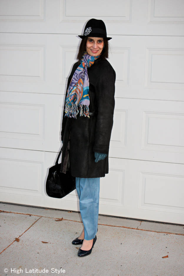 fashion over 40 woman in winter outerwear